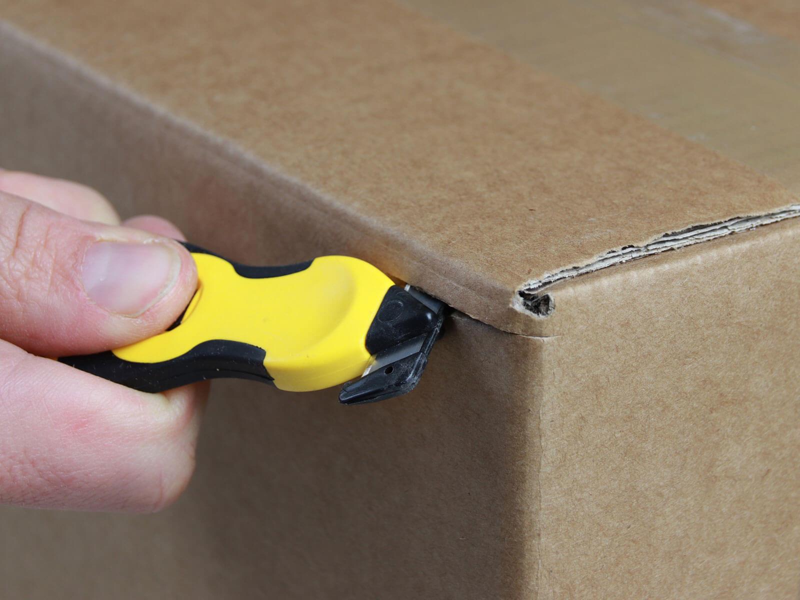 H031G Sicherheitsmesser Schutzhaken Karton schneiden abdeckeln CURT-tools