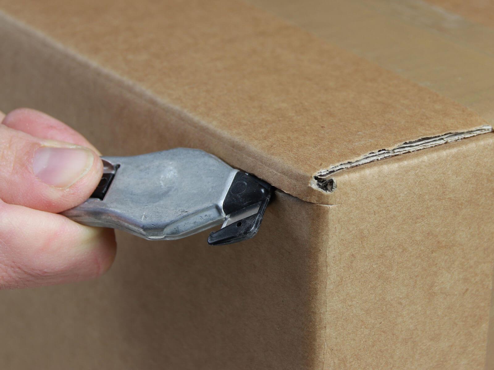 H031P Sicherheitsmesser Schutzhaken metall Karton schneiden abdeckeln CURT-tools