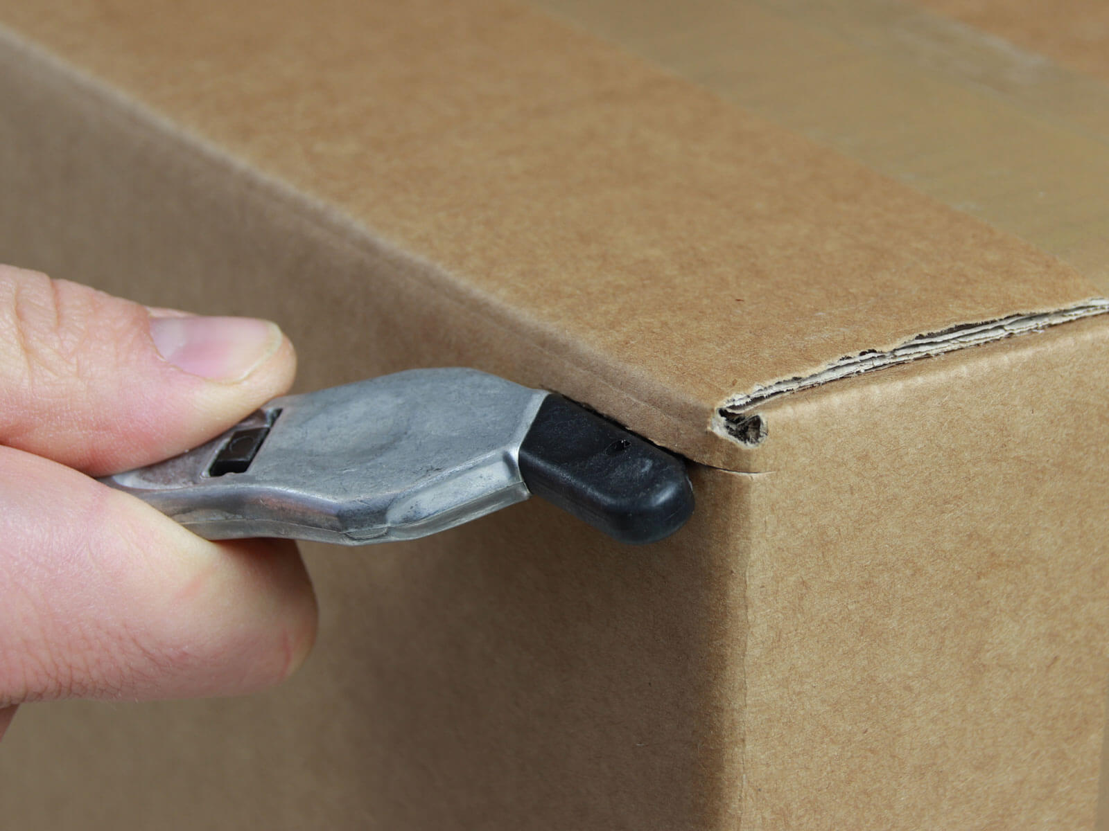 H032P Sicherheitsmesser Schutzhaken metall Karton schneiden abdeckeln CURT-tools
