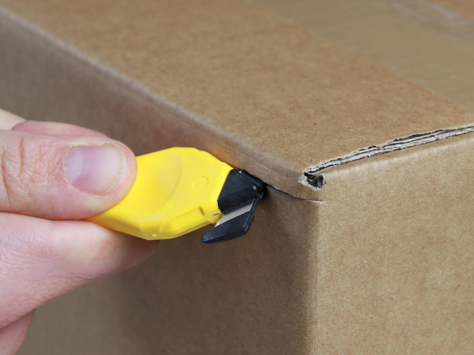 H033G Sicherheitsmesser Schutzhaken Karton schneiden abdeckeln CURT-tools