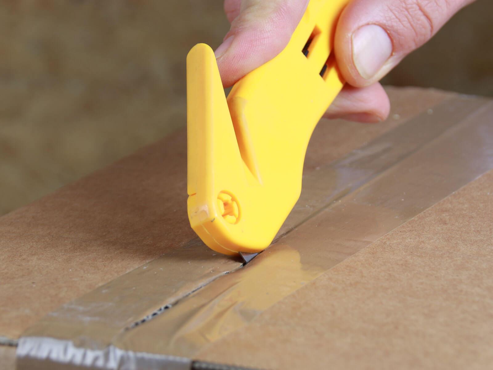 H041 Sicherheitsmesser Schutzhaken Folienmesser Klebeband schneiden Klebebandritzer CURT-tools