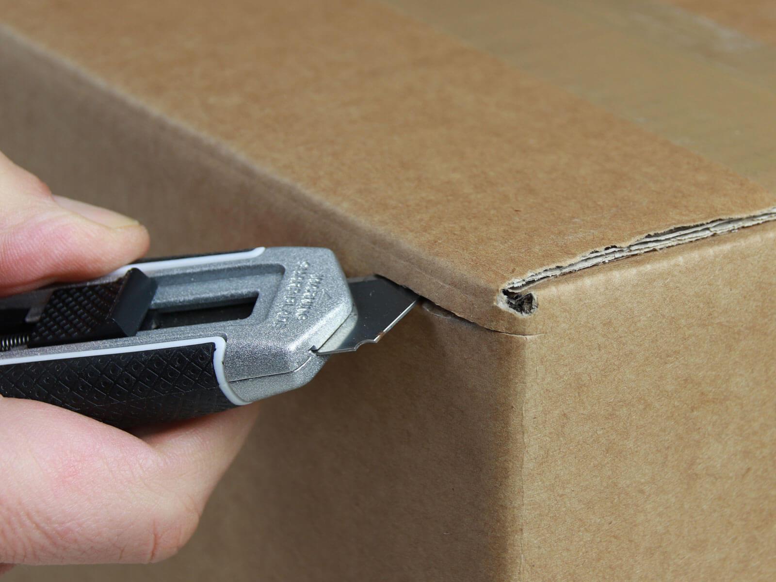 U002 Sicherheitsmesser automatischer Klingenrückzug lang Karton schneiden abdeckeln CURT-tools