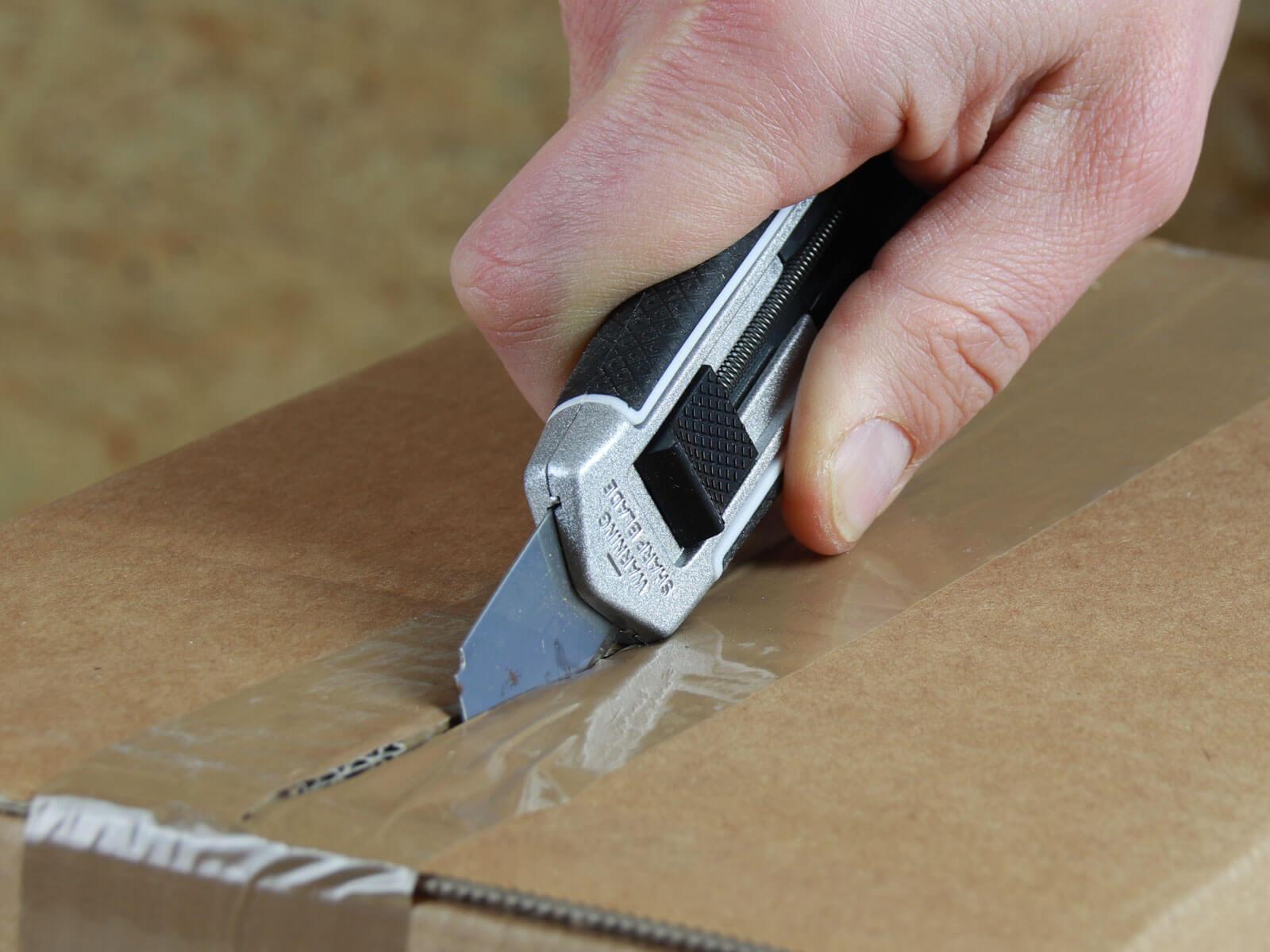 U002 Sicherheitsmesser automatischer Klingenrückzug lang Klebeband-schneiden CURT-tools