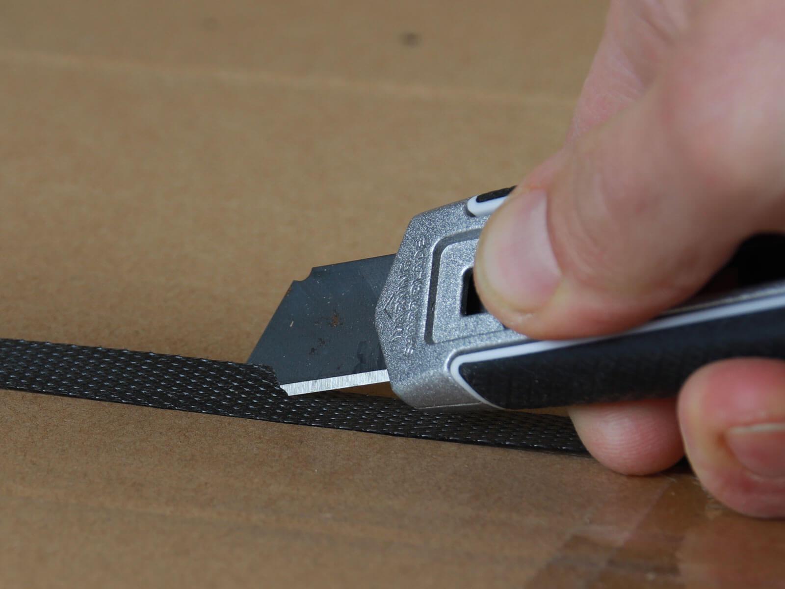 U002 Sicherheitsmesser automatischer Klingenrückzug lang Umreifungsband schneiden CURT-tools