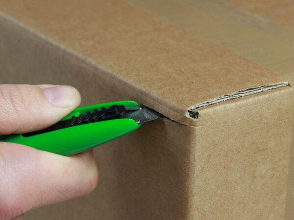 U003 Sicherheitsmesser automatischer Klingenrückzug Basic mini Karton schneiden abdeckeln CURT-tools