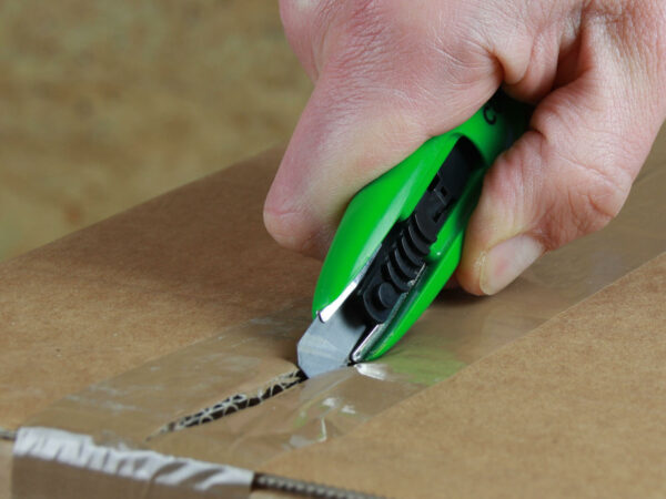 U003 Sicherheitsmesser automatischer Klingenrückzug Basic mini Klebeband schneiden CURT-tools