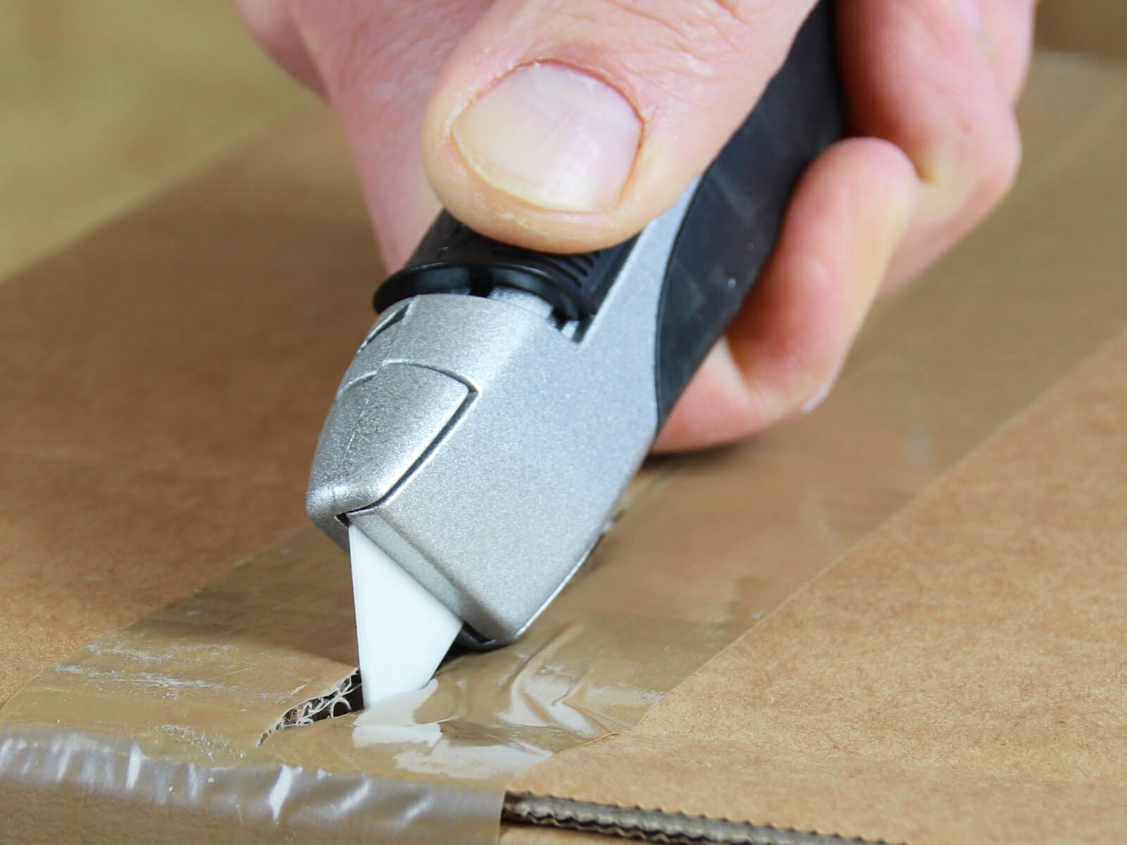 U004K Keramik Sicherheitsmesser vollautomatischer Klingenrückzug Klebeband schneiden CURT-tools