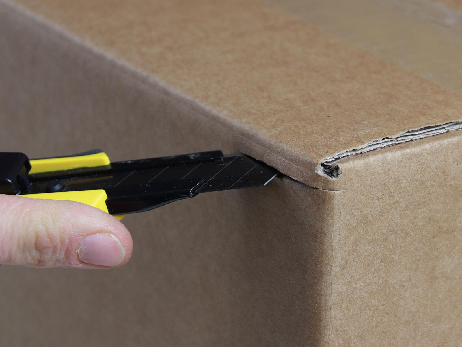 U006 Cuttermesser automatischer Klingenrückzug Karton schneiden abdeckeln CURT-tools