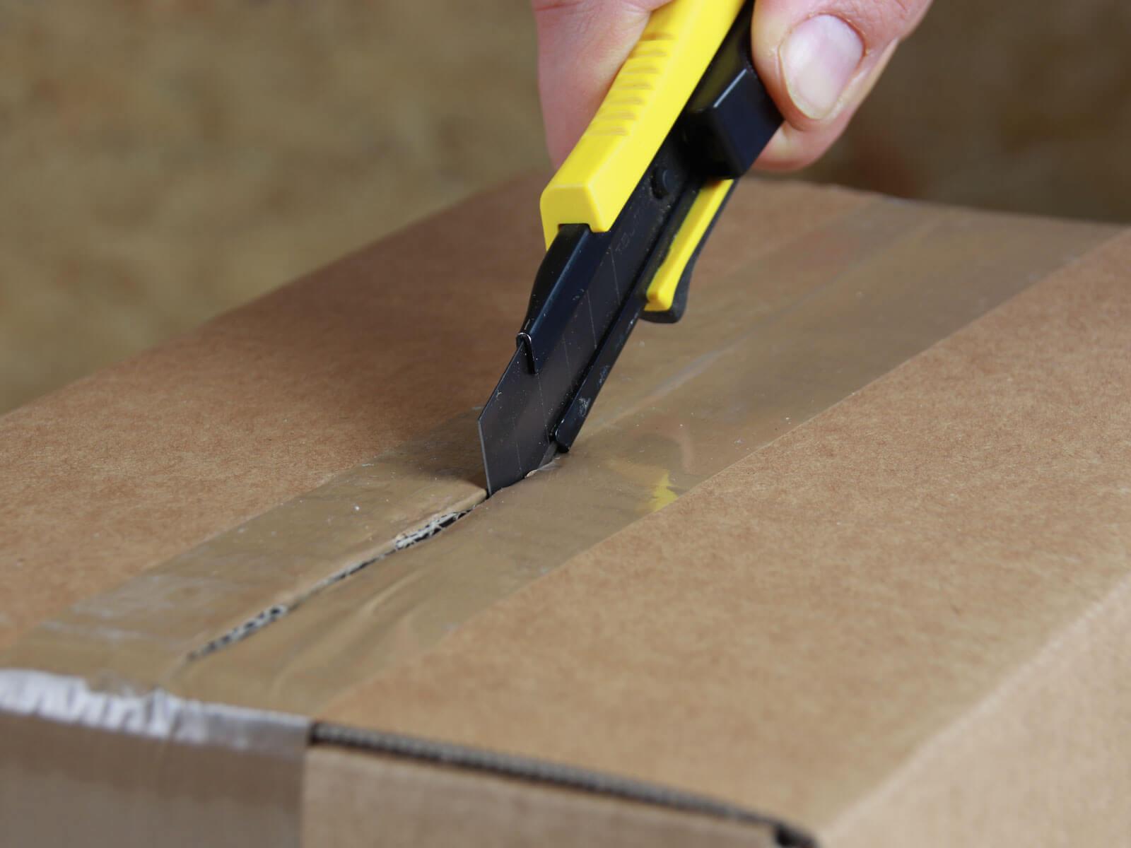 U006 Cuttermesser automatischer Klingenrückzug Klebeband schneiden CURT-tools