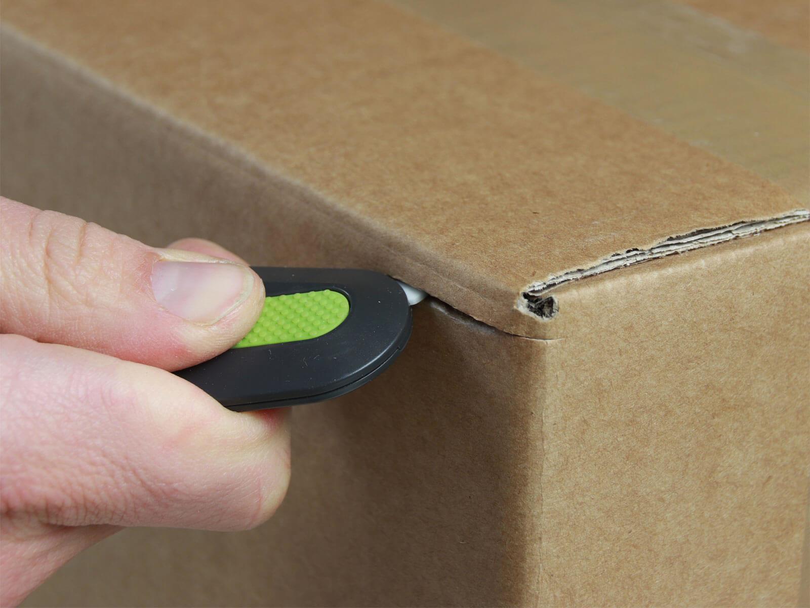 U007 Keramik Sicherheitsmesser automatischer Klingenrückzug mini Karton schneiden abdeckeln CURT-tools