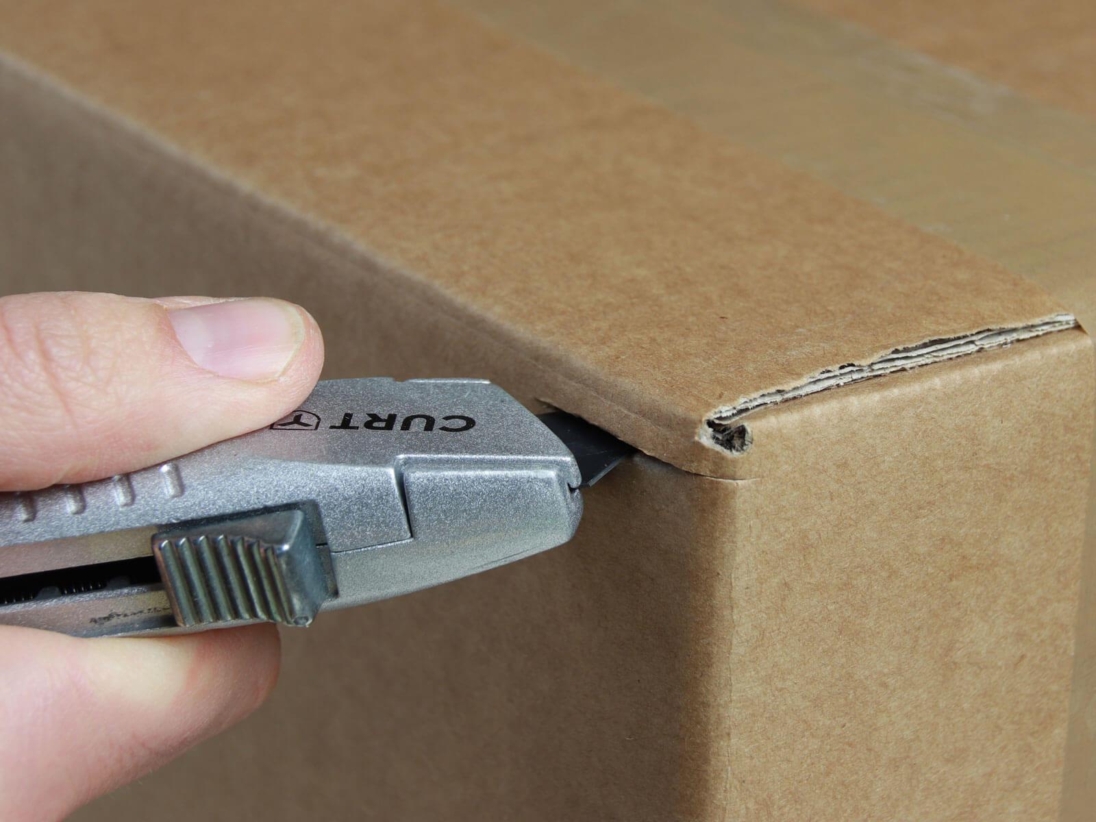 U010 Sicherheitsmesser automatischer Klingenrückzug Karton schneiden abdeckeln CURT-tools