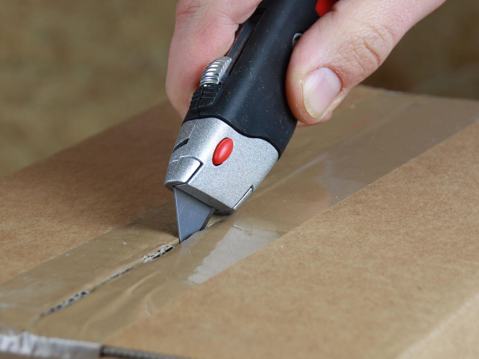 U012 Cuttermesser manueller Klingenrückzug Klebeband schneiden CURT-tools