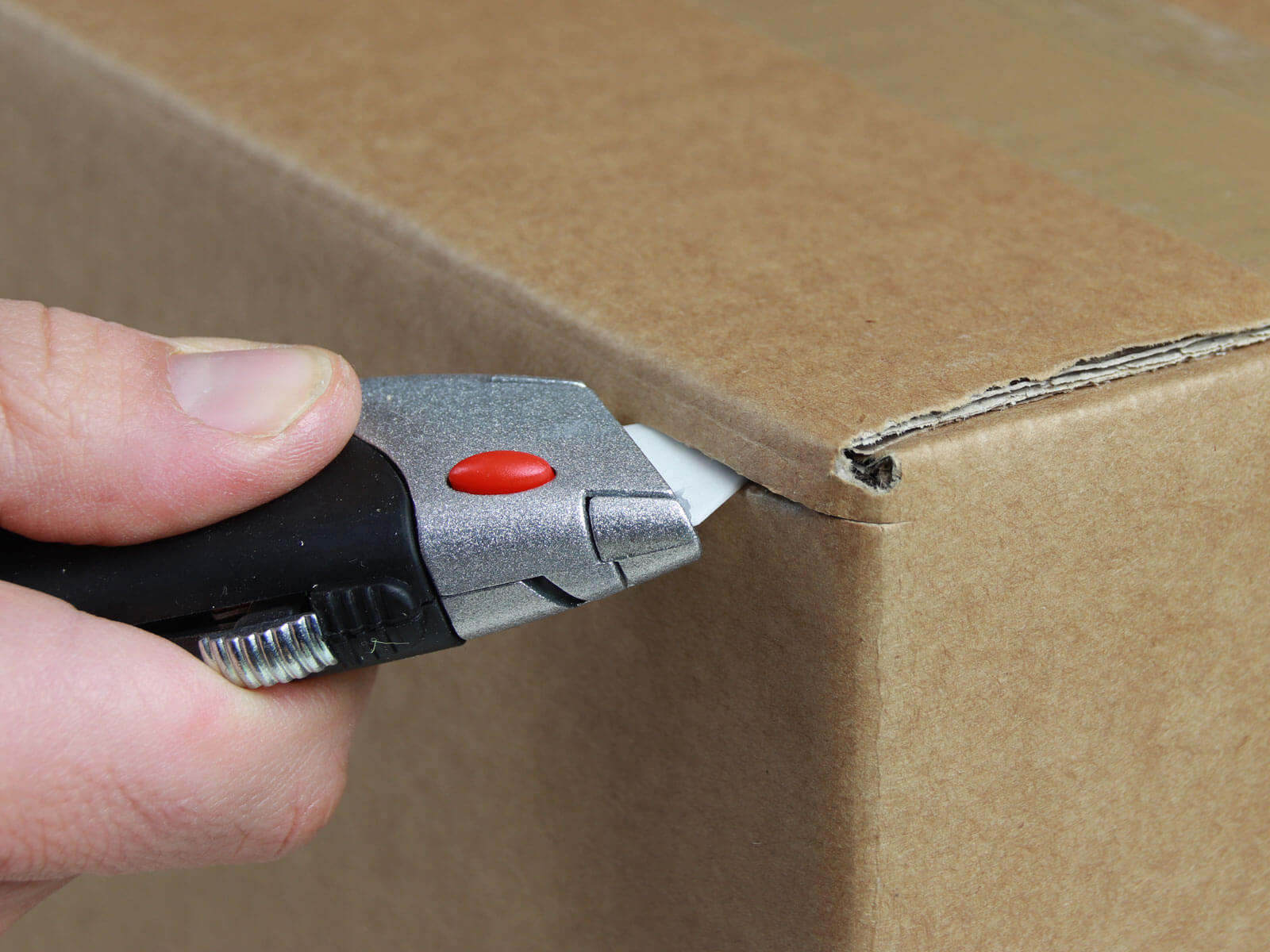 U012K Keramik Sicherheitsmesser manueller Klingenrückzug Karton schneiden abdeckeln CURT-tools