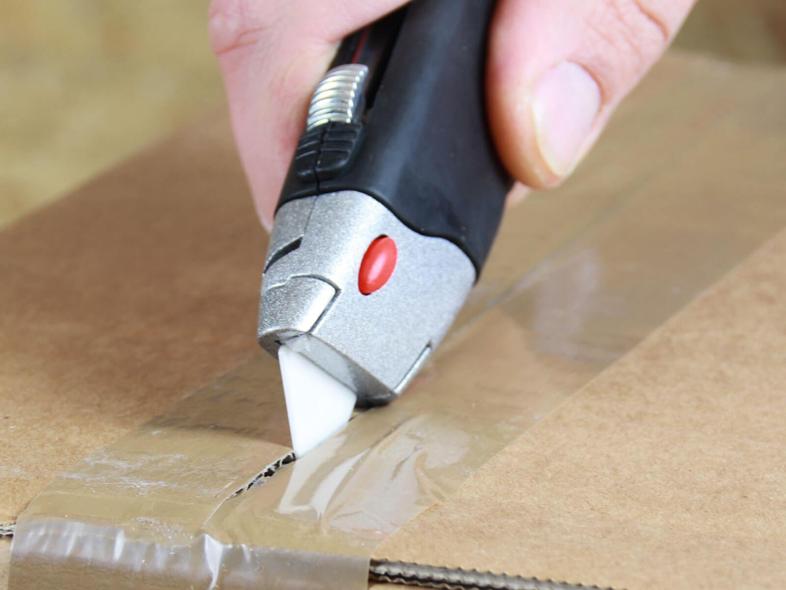 U012K Keramik Sicherheitsmesser manueller Klingenrückzug Klebeband schneiden CURT-tools