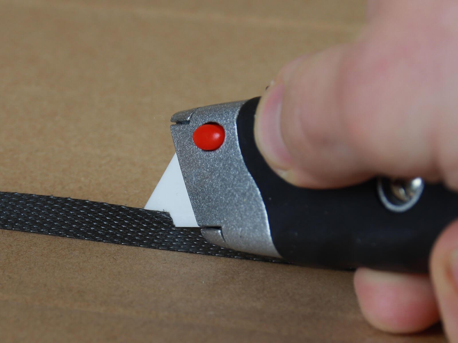 U012K Keramik Sicherheitsmesser manueller Klingenrückzug Umreifungsband schneiden CURT-tools