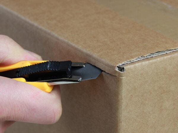 U013 Sicherheitsmesser automatischer Klingenrückzug Basic Karton schneiden abdeckeln CURT-tools