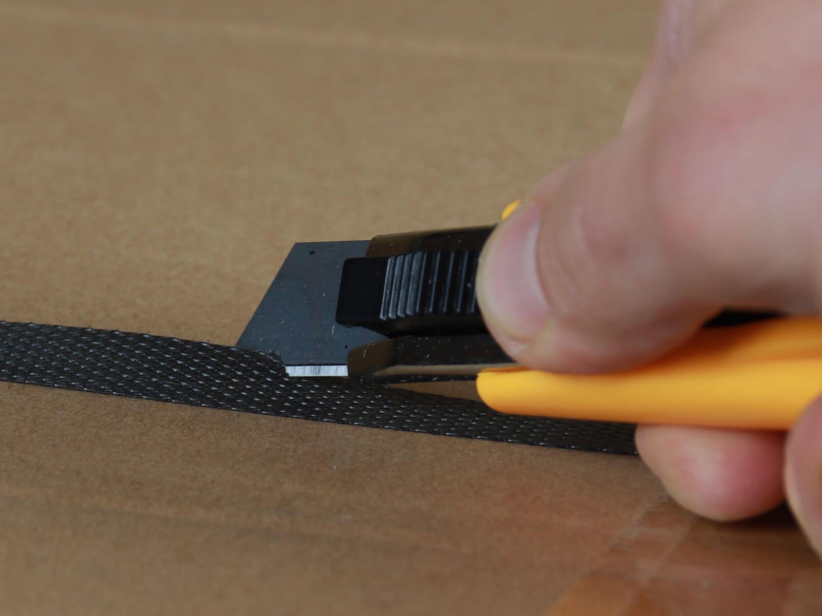 U013 Sicherheitsmesser automatischer Klingenrückzug Basic Umreifungsband schneiden CURT-tools