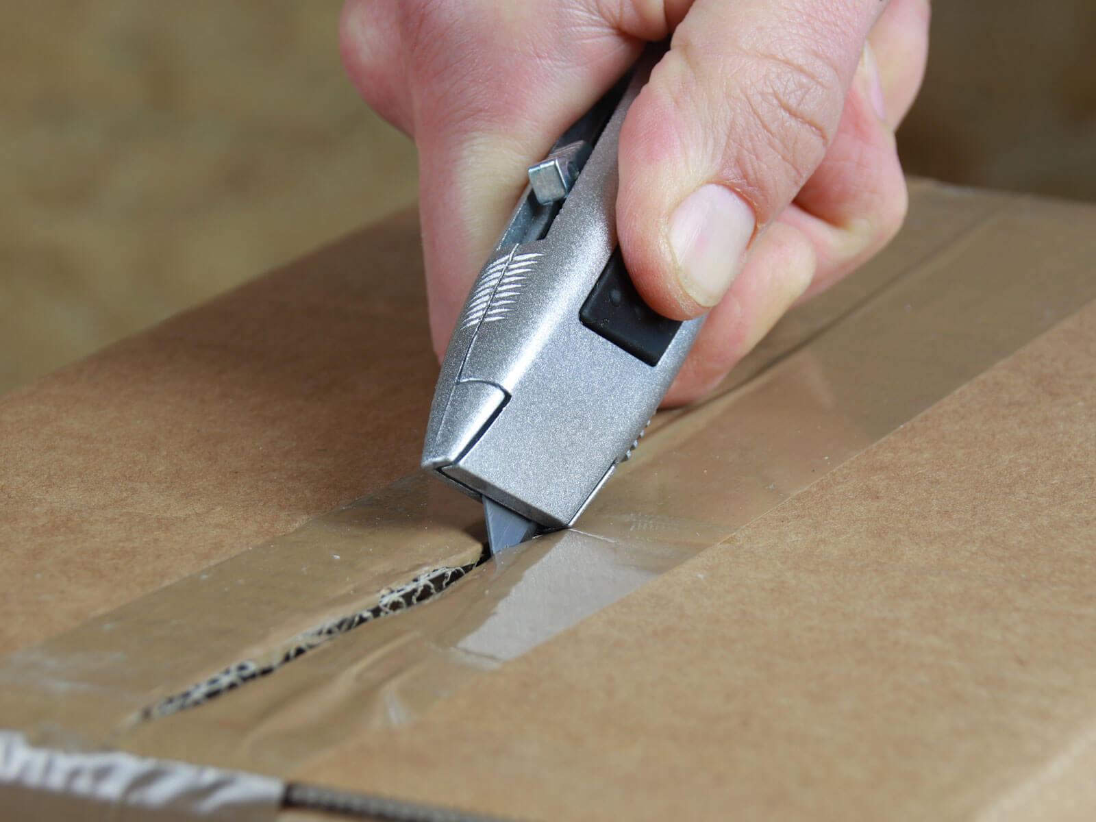 U014 Sicherheitsmesser automatischer Klingenrückzug Klebeband schneiden CURT-tools