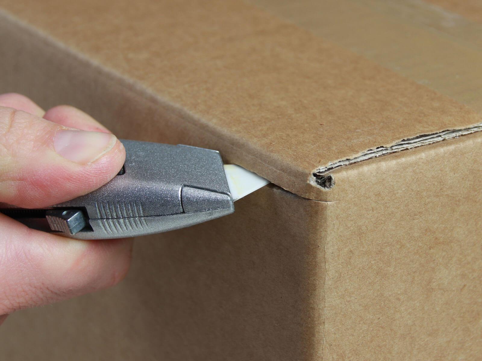U014K Keramik Sicherheitsmesser automatischer Klingenrückzug Karton schneiden abdeckeln CURT-tools