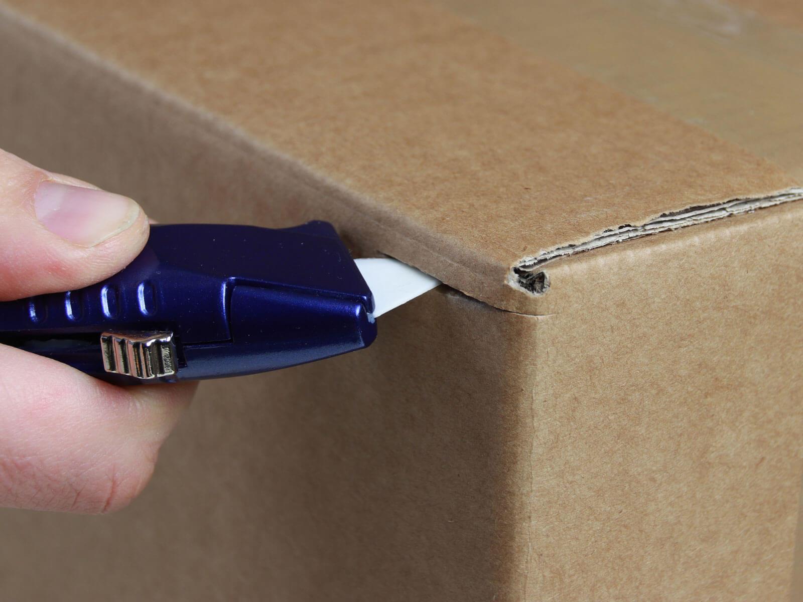 U018K Keramik Sicherheitsmesser manuell Klingenrückzug Karton schneiden abdeckeln CURT-tools