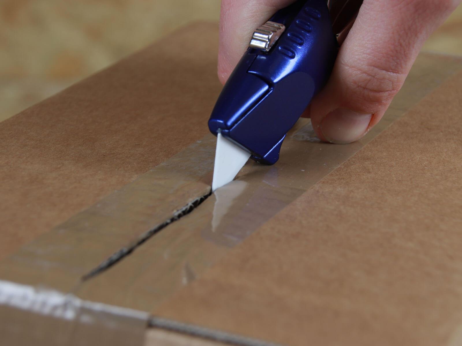 U018K Keramik Sicherheitsmesser manuell Klingenrückzug Klebeband schneiden CURT-tools