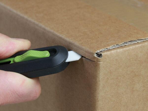 U10554 Keramik Sicherheitsmesser automatischer Klingenrückzug Karton schneiden abdeckeln CURT-tools