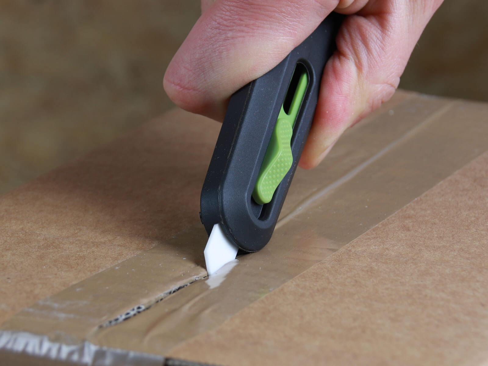 U10554 Keramik Sicherheitsmesser automatischer Klingenrückzug Klebeband schneiden CURT-tools