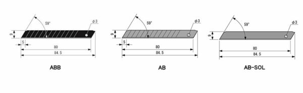 K043O-Cuttermesser-Klinge-18mm-OLFA-ohne-Abbrechsegmente-Styropor-LB-SOL-technische-Daten-CURT-tools_