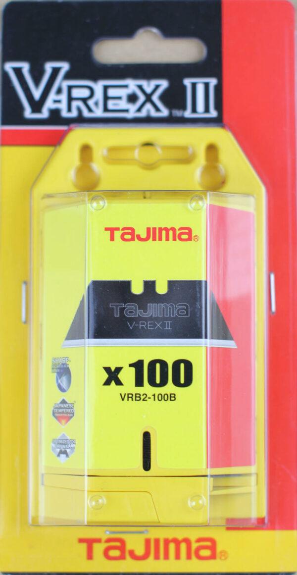 K015 Trapezklinge black Razar Tajima VRB V-REX Verpackung 100 Klingen CURT-tools