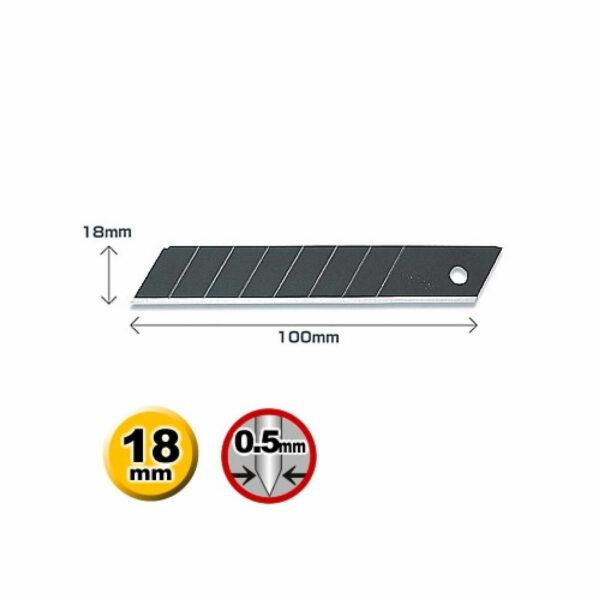 K041O-Cuttermesser-Klinge-Abbrechklinge-18-mm-OLFA-LBB-10-Icons-CURT-tools
