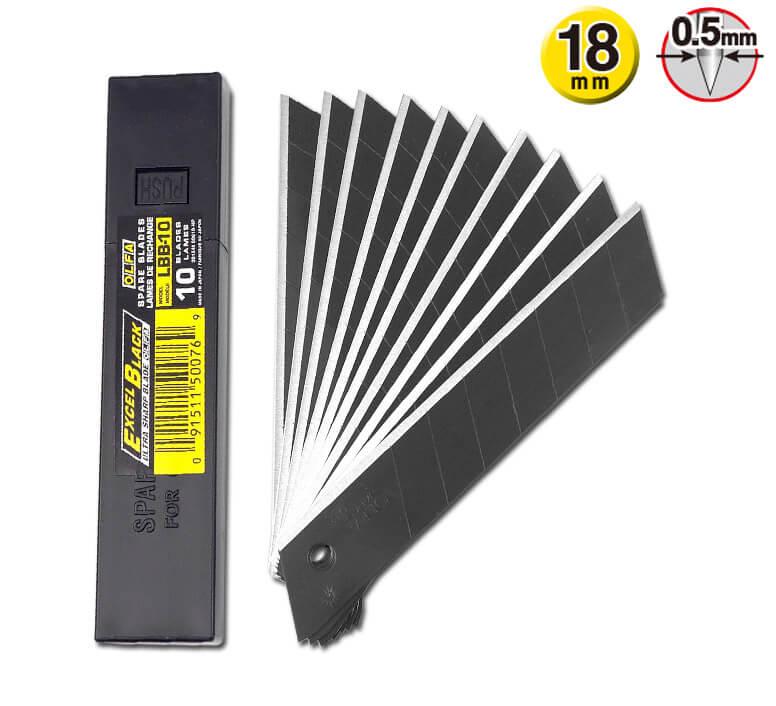 K041O-Cuttermesser-Klinge-Abbrechklinge-18-mm-OLFA-LBB-10-Verpackung-CURT-tools_max