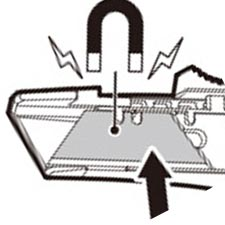 Sicherheitsmesser-Magnet
