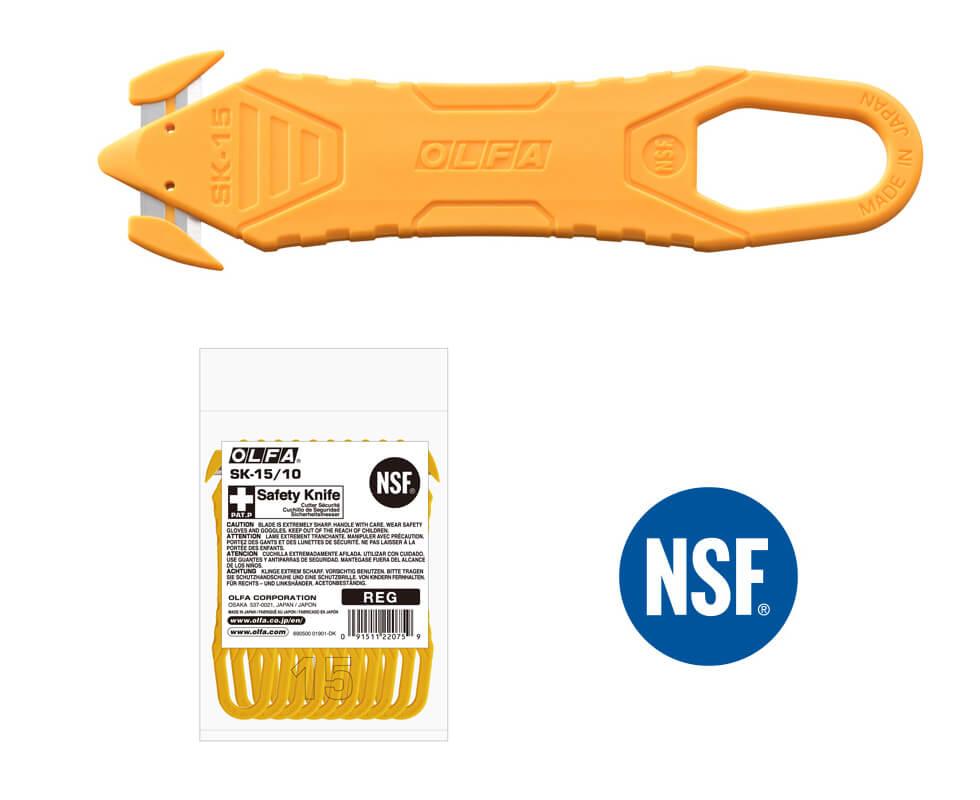 H036 Sicherheitsmesser Folienschneider OLFA SK15 Einweg Verpackung CURT-tools_