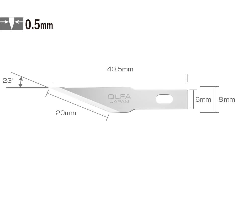 K092 Ersatzklinge Skalpell Entgrater Bastelmesser OLFA SK-4 Maße CURT-tools