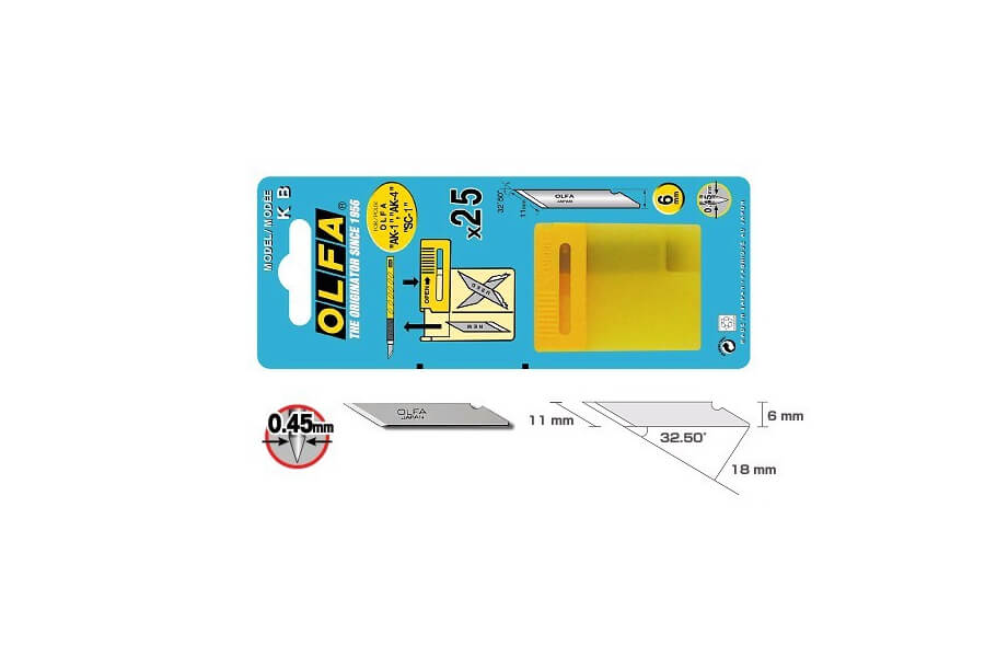 K093 Verpackung OLFA Klinge KB CURT-Tools