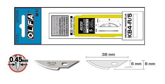 K094 olfa-ersatzklinge-kb4-r-5 Verpackung CURT-tools