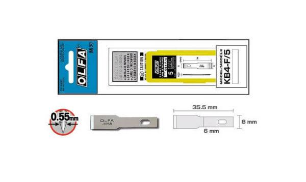 K095 KB4-F Ersatzklinge Skalpell Entgrater Bastelmesser OLFA SK-4 Verpackung CURT-tools