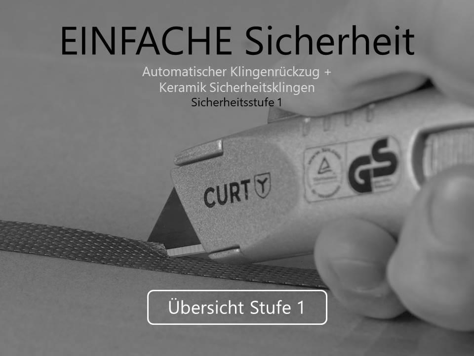 Sicherheitsmesser Sticherheitsstufe 1 Übersicht CURT-tools
