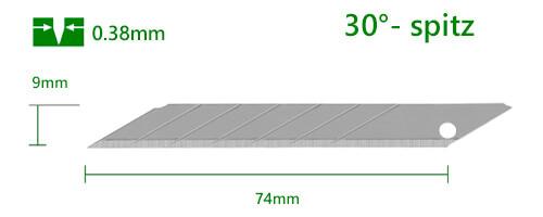 K062–9mm-Cuttermesser-Klinge-Abbrechklinge_30-Grad-spitz-CURT-tools.com