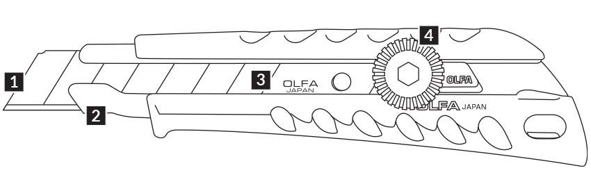 C065 Cuttermesser 18mm OLFA L-1 Highlights CURT-tools_